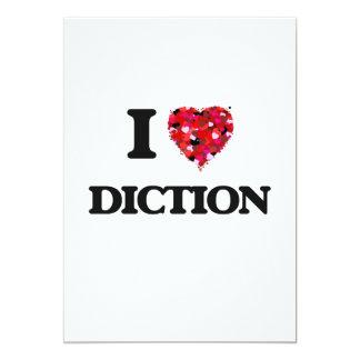 """Amo la dicción invitación 5"""" x 7"""""""