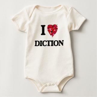 Amo la dicción traje de bebé