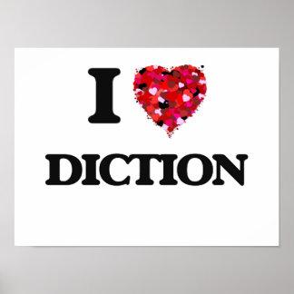 Amo la dicción póster