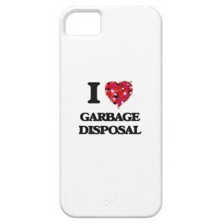 Amo la disposición de basura iPhone 5 fundas