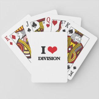 Amo la división cartas de póquer