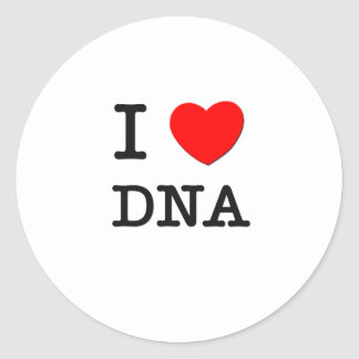 Amo la DNA Pegatina Redonda
