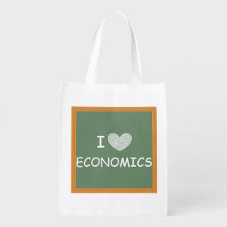 Amo la economía bolsa reutilizable