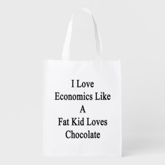Amo la economía como un chocolate de los amores bolsas de la compra