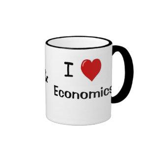Amo la economía de la economía me amo taza a dos colores