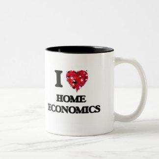 Amo la economía doméstica taza dos tonos