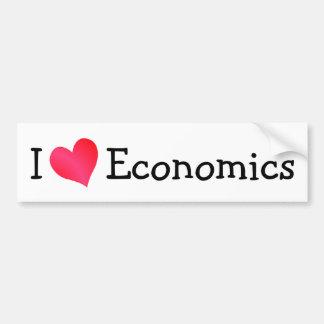 Amo la economía etiqueta de parachoque