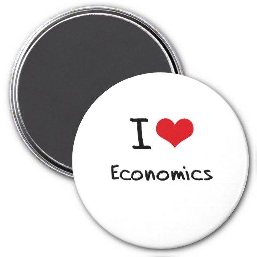 Amo la economía imán redondo 7 cm