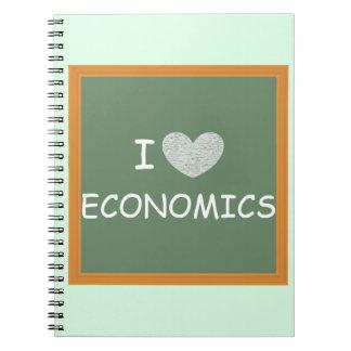 Amo la economía libro de apuntes con espiral