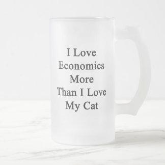 Amo la economía más que amor de I mi gato Taza De Cristal