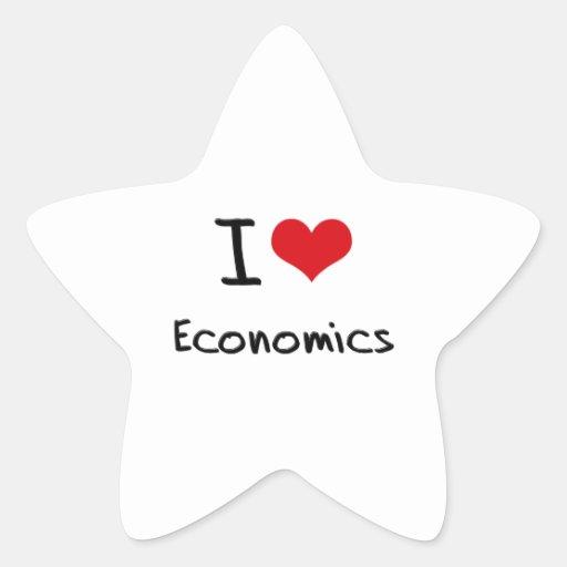 Amo la economía pegatina en forma de estrella
