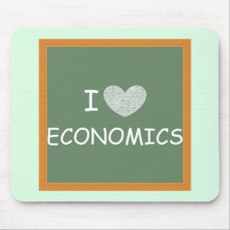 Amo la economía mouse pad