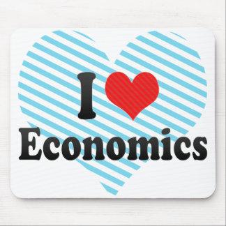 Amo la economía tapetes de raton
