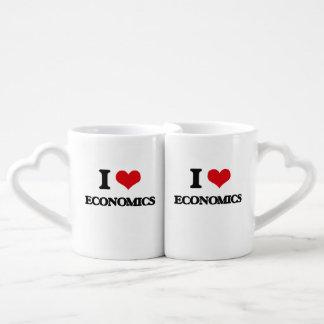 Amo la economía tazas para parejas