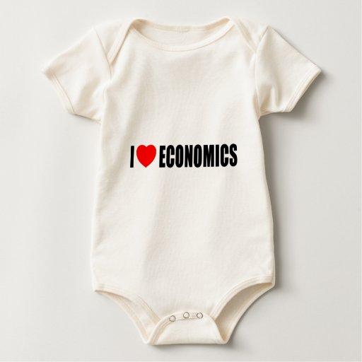 Amo la economía traje de bebé