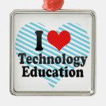 Amo la educación de la tecnología adorno para reyes