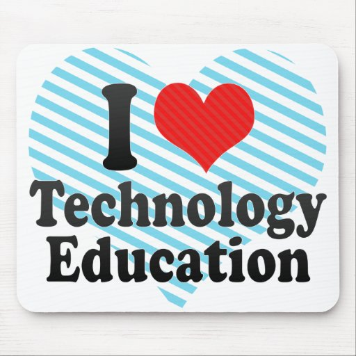 Amo la educación de la tecnología alfombrilla de raton