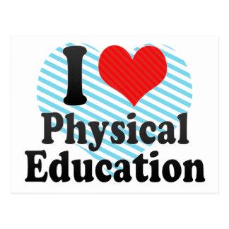 Amo la educación física tarjeta postal