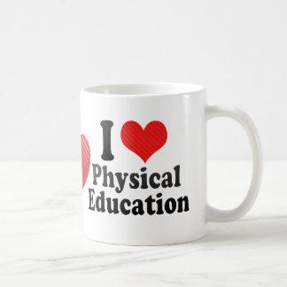 Amo la educación física taza