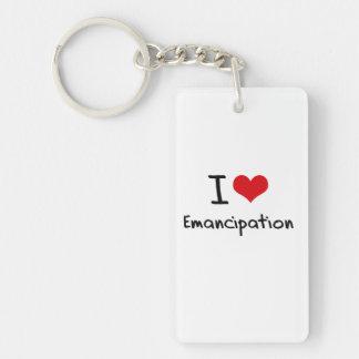 Amo la emancipación llavero