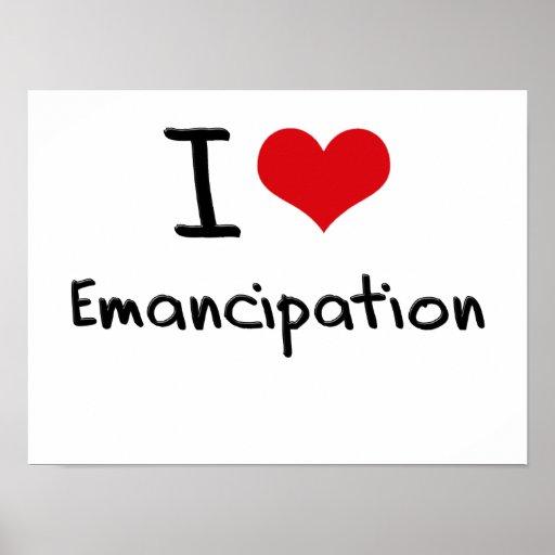 Amo la emancipación póster
