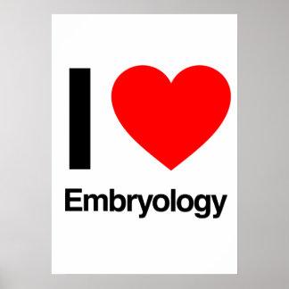 amo la embriología posters