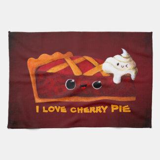 Amo la empanada de la cereza toallas