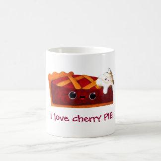 Amo la empanada de la cereza tazas