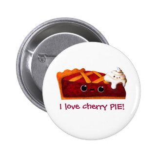Amo la empanada de la cereza - texto de encargo pins