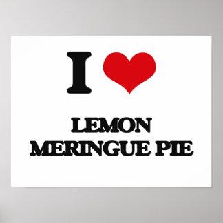 Amo la empanada de merengue de limón póster