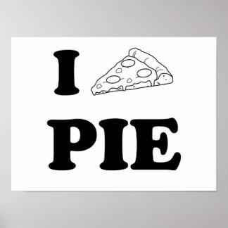 Amo la empanada de pizza póster