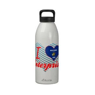 Amo la empresa, Wisconsin Botella De Beber