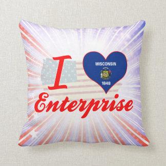 Amo la empresa Wisconsin Almohada