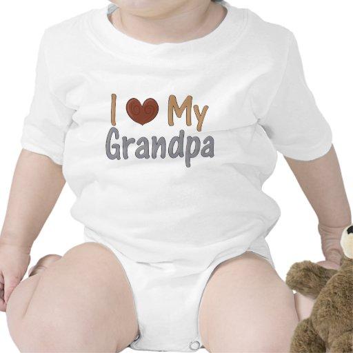 Amo la enredadera del niño del abuelo camisetas