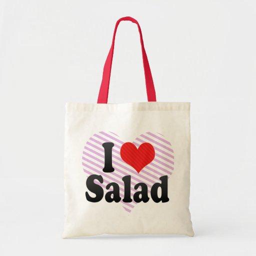 Amo la ensalada bolsa tela barata
