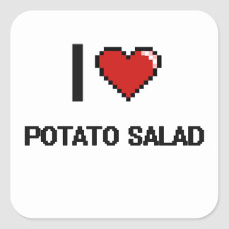 Amo la ensalada de patata pegatina cuadrada