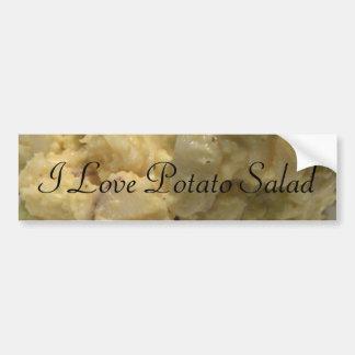 Amo la ensalada de patata pegatina para auto