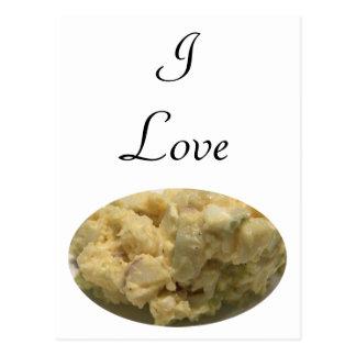 Amo la ensalada de patata postales