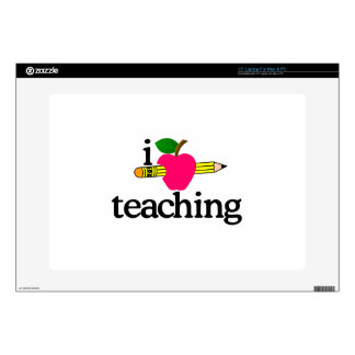 Amo la enseñanza/Apple y lápiz Portátil 38,1cm Skins