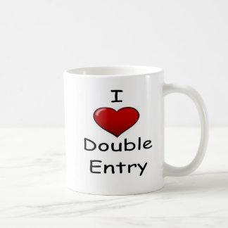 Amo la entrada doble (2) taza