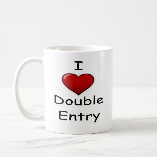 Amo la entrada doble (2) taza clásica