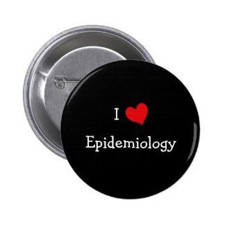Amo la epidemiología pin redondo 5 cm
