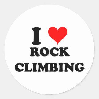 Amo la escalada pegatina redonda