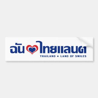 Amo la escritura tailandesa del ❤ de Tailandia Pegatina De Parachoque