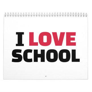 Amo la escuela calendario