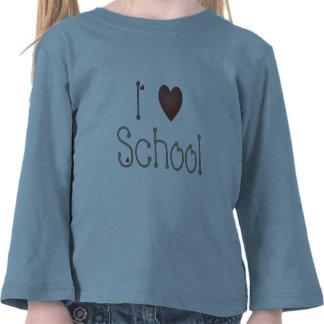 Amo la escuela camisetas