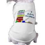 Amo la escuela camisetas de perrito