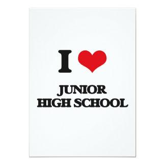Amo la escuela de secundaria invitación 12,7 x 17,8 cm