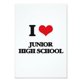 Amo la escuela de secundaria invitación 8,9 x 12,7 cm