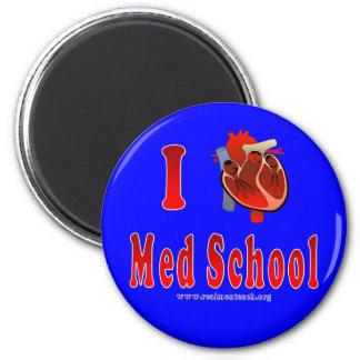 Amo la escuela del MED (azul) Imán Redondo 5 Cm